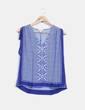 Blusa étnica azul klein Claudie Pierlot