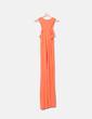 Vestido largo naranja Boohoo