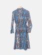 Vestido de gasa animal print con manga larga Ymhy