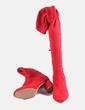 Bota alta roja Stradivarius