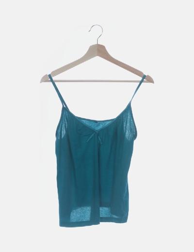 Camiseta básica azul de tirantes