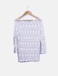 Camiseta crochet blanca Zara