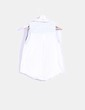 Blouse blanche pois sans manches New Caro