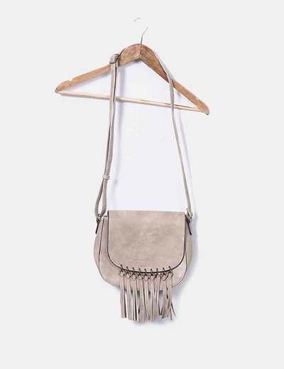 Beige bag with fringe Tom Tailor