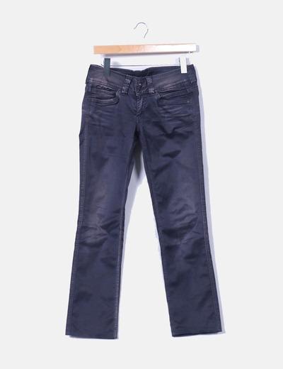 Pantalón gris marengo encerado efecto desgastado Pepe Jeans