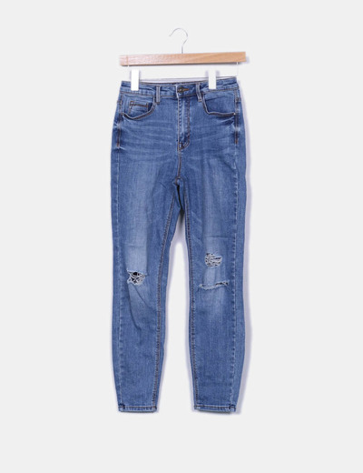 Jeans denim ripped Stradivarius