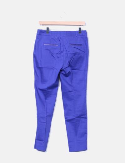 Pantalon de pinza azul