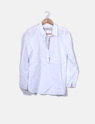 Blusa blanca texturizada Amichi