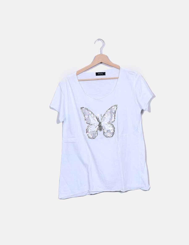 Tops Online Mariposa Lancaster Mujer Mulaya Camiseta Wivfqc SWWg6PFn