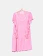 Vestido rosa con volantes Manoush