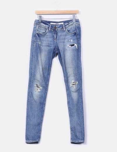 Jeans avec clous cassés Topshop