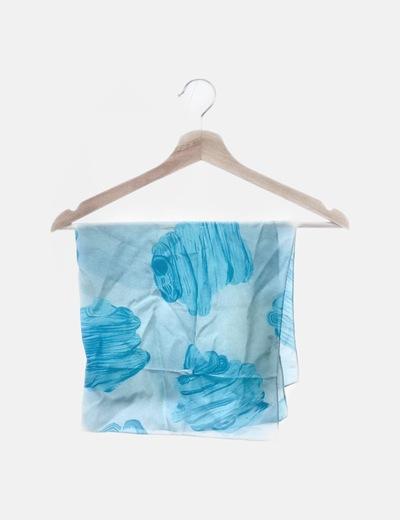 Pañuelo estampado azul