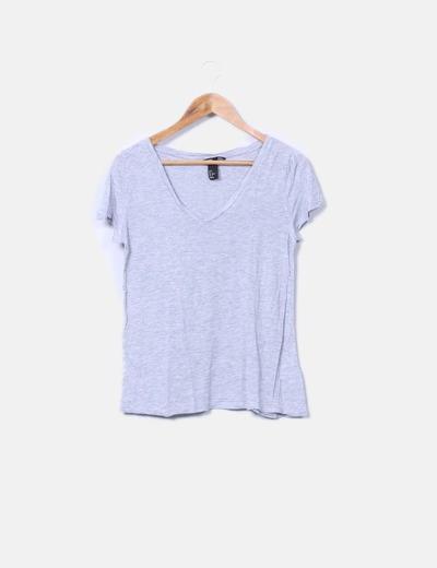 Camiseta gris manga corta H&M