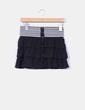Mini falda negra combinada  volantes Bershka