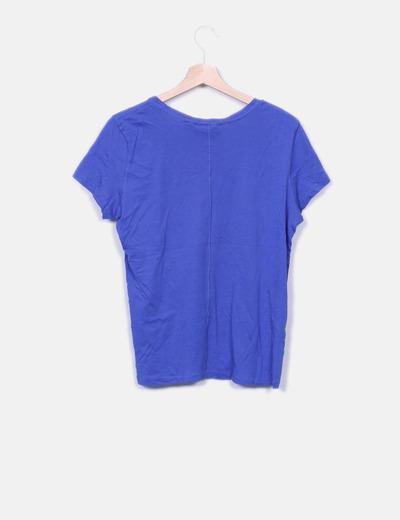 Camiseta azul print mensaje