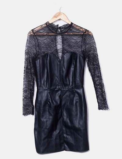 Robe noire de cuirette NoName