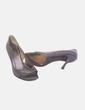 Zapato negro de tacón peep toe Jorge Juan
