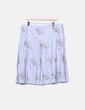 Falda plisada gris con estampado Sfera