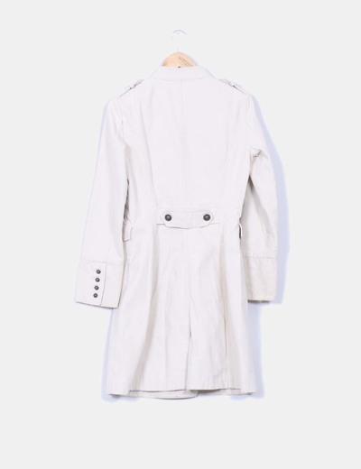 Abrigo mao doble botonadura beige