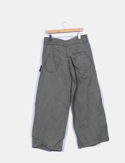 Pantalon kaki ancho