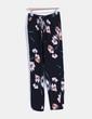 Pantalons noir palazzo imprimé floral Vero Moda