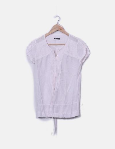 Blusa rosa palo Massimo Dutti