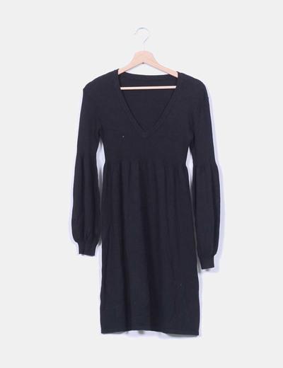 Vestido negro de punto NoName