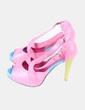 Zapato peep toe multicolor  Beigeer