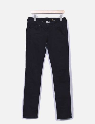 Pantalon denim negro Mango