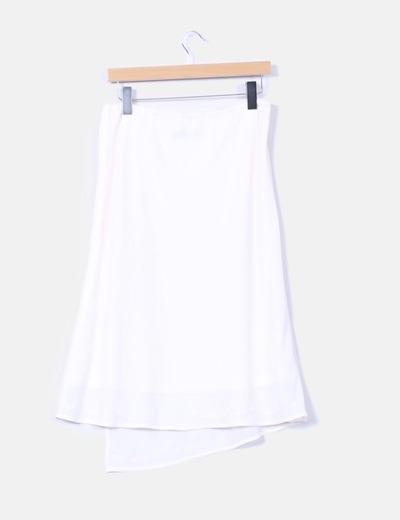 Conjunto blusa y falda beig claro