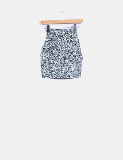 Mini falda ajustada print animal