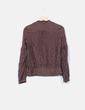 Camisa marrón de seda hilos glitter Massimo Dutti