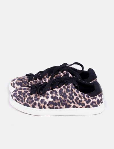 Zapatilla de cordones animal print