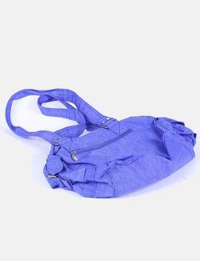 Bolso azul electrico satinado