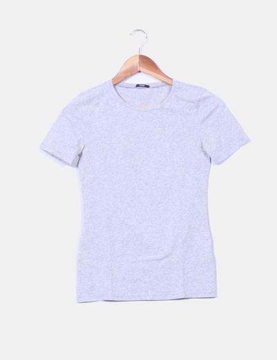 Camiseta gris jaspeada manga corta Tezenis