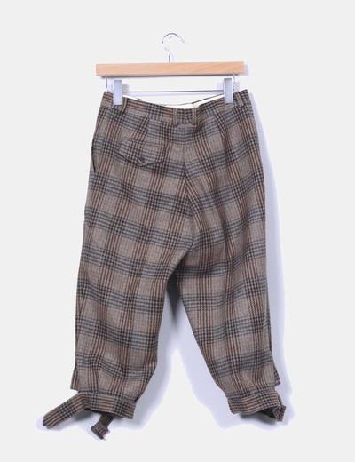 Pantalon lana bombacho pirata