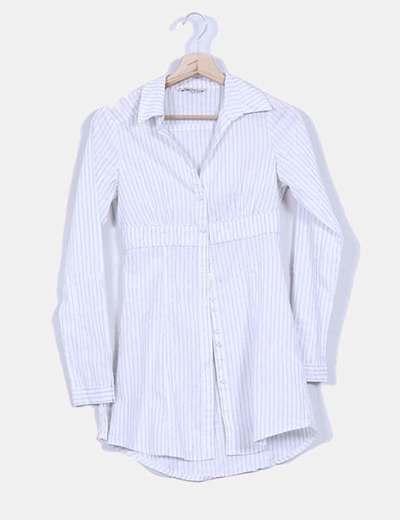 Camisa blanca con brillos plateados Stradivarius