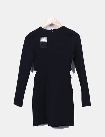 7378ffaf3e Zara Vestido negro con aberturas laterales (descuento 66 %) - Micolet