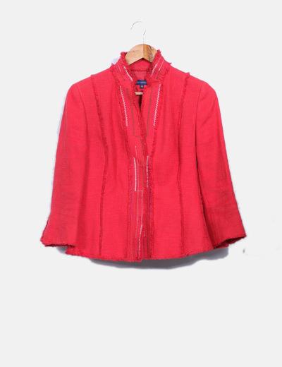 Adolfo dominguez conjunto de falda y blazer roja for Abrigos adolfo dominguez outlet