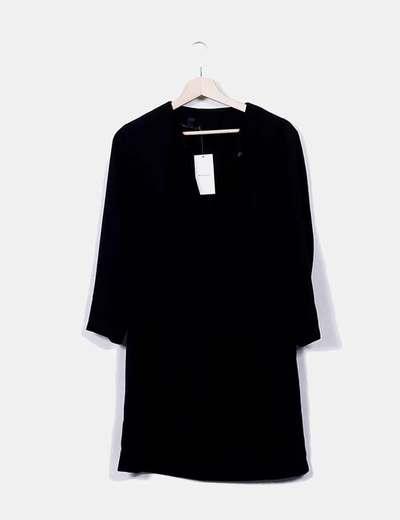 418da9e3a366c Mango Robe noire dos nu (réduction 78%) - Micolet