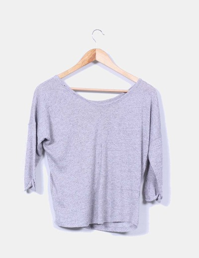 Tricot gris oversize