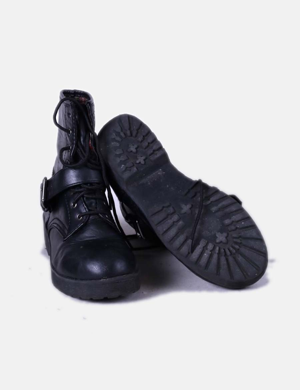 e66a308a1cc76 De Mujer Bota Hebilla Primark Con Zbxwqe7h Zapatos Acordonada Negra  IBwZCqFPx