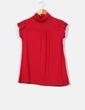 Camiseta roja de manga corta con cuello cisne NoName