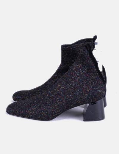 Zara Bottines noires paillettes élastique (réduction 52%) - Micolet 481b8d0cecd9