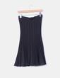 Falda midi negra con brillos Zara