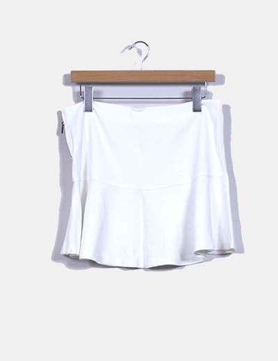 Falda blanco de volantes Lefties