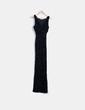Maxi vestido negro con estampado aterciopelado Zara