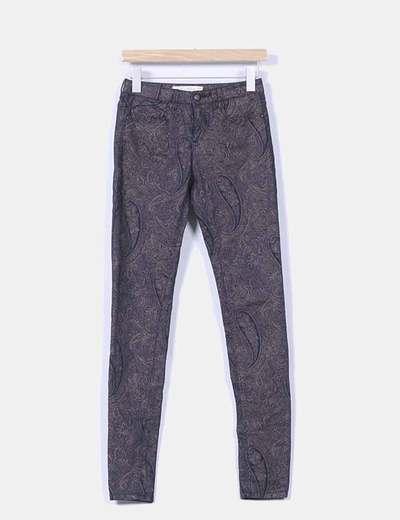 Pantalón negro y marrón estampado Lefties