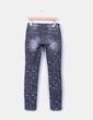 Pantalón denim gris print estrellas Simply chic
