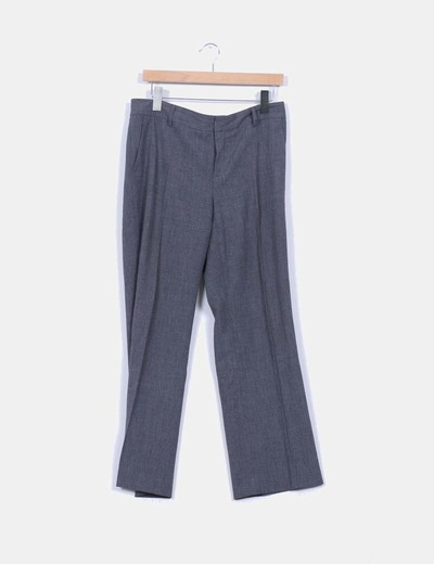 Pantalón de traje gris marengo NoName